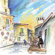 Old Drawings - Old and Lonely in Spain 03 by Miki De Goodaboom