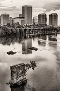 Richmond Virginia Prints - Old and New Print by JC Findley