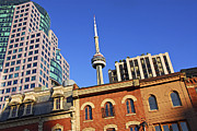 Visit Framed Prints - Old and new Toronto Framed Print by Elena Elisseeva