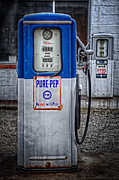 Gas Stations Prints - Old and rusty  pump  Print by Emmanuel Panagiotakis