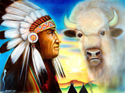 American Bison Originals - Old and wise by Amatzia Baruchi