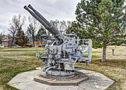 Hardware Framed Prints - Old Anti-Aircraft Gun at City Park Framed Print by Gary Whitton