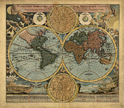 Teodora Atanasova - Old Antique World Map