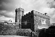 Antrim Framed Prints - Old Antrim Castle Walls With Barbican Gate Lodge County Antrim Northern Ireland Framed Print by Joe Fox