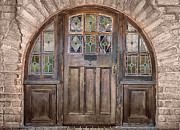 Decorative Glass Art - Old Archway and Door by Sandra Bronstein
