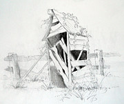 Carol Mclagan Art - Old Aussie Outhouse by Carol McLagan