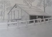 Old Austane Barn Print by Brian Leverton