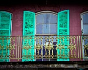 Art Glass Picture Prints - Old Balcony Print by Perry Webster