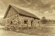 White Barn Prints - Old Barn - Sepia Print by Scott Norris