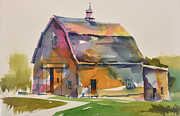 Old Barns Paintings - Old Barn-2 by Joe Greenwald