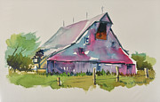 Old Barns Paintings - Old Barn-7 by Joe Greenwald