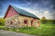 Farm Building Posters - Old Barn at Dusk Poster by Scott Norris
