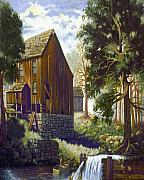Old Barn At Riverbend Print by Donn Kay