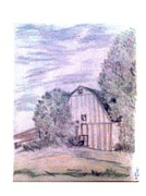 Old Barn Drawing Originals - Old Barn by De Beall