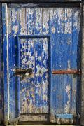 Blue Doors Framed Prints - Old Barn Door Framed Print by John Short