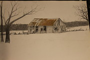 Ralph Hecht - Old Barn Drawing