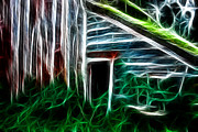 Old Barn Mixed Media - Old Barn Fractal  by Kami McKeon