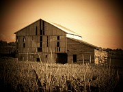 Rural Indiana Prints - Old Barn in Indiana Print by Joyce  Kimble Smith