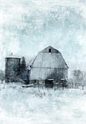 Old Barn In Winter Snow Print by Jill Battaglia