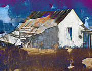 Barns Mixed Media Acrylic Prints - Old Barn Acrylic Print by Irina Hays