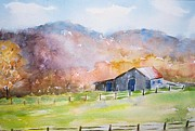 Old Barns Paintings - Old Barn by M Jan Wurst