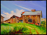 Old Barns Paintings - Old Barn  Nelsonville Ohio by Thomas MACMILLAN