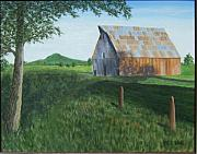 Old Barn Paintings - Old Barn by Philip Hall