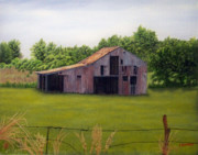 Old Barn Paintings - Old Barn  Poetry Tx by Darren Yarborough