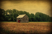 Barns Digital Art - Old Barn by Sandy Keeton