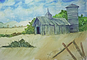 Old Mills Paintings - Old Barn by Terri Mills