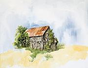 Old Barn Paintings - Old Barn by Virginia McLaren