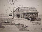 Old Barns Mixed Media - Old Barn by William Deering
