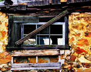 Pallet Framed Prints - Old Barn Window 2 Framed Print by Perry Webster