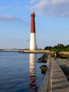 Barnegat Inlet Prints - Old Barney and a Gull Too Print by Tom LoPresti