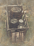 Middle Ages Digital Art - Old Barrels by Jutta Maria Pusl
