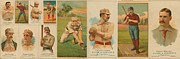Baseball Art Posters - Old Baseball Cards Collage Poster by Don Struke