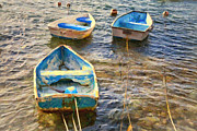 Choppy Digital Art - Old Bermuda Rowboats by Verena Matthew