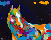 Colorful Horse Paintings - Old Bess by Tracy Miller