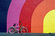Colour Acrylic Prints - Old bike Acrylic Print by Garry Gay