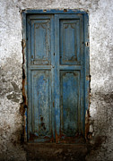 Old Houses Photo Posters - Old Blue Door Poster by Shane Rees
