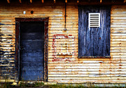Barry Photos - Old Blue Doors by Matt Hanson