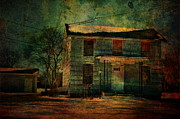 Abandoned House Photos - Old Blue by Emily Stauring