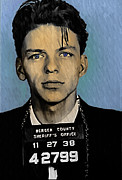 Mug Shot Posters - Old Blue Eyes - Frank Sinatra Poster by Bill Cannon