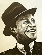 Frank Sinatra Paintings - Old Blue Eyes by Pete Maier