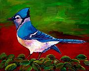 Songbird Paintings - Old Blue by Johnathan Harris