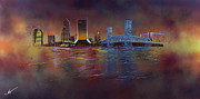 Jacksonville Framed Prints - Old Blue Framed Print by Mobarick Abdullah III