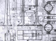 Blueprint Photo Prints - Old Blueprints Print by Yali Shi