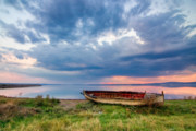 Lake Framed Prints - Old Boat Framed Print by Evgeni Dinev