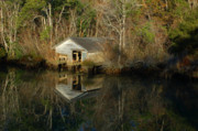 Shrimp Boat Prints - Old boat House Print by Michael Thomas