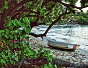 Alabama Photographer Prints - Old Boat on the Beach Print by Michael Thomas